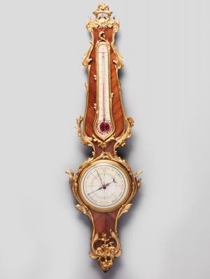 A French Napoleon III rose-wood Barometer, circa 1880