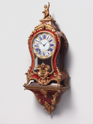 A French Louis XV bracket clock by Gudin Paris, circa 1740