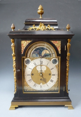 A splendid Dutch table clock with carillon, Jan Bernardus Vrijthoff, Hagae ca. 1770-80.
