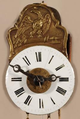 A miniature German Black Forest alarm so-called 'Sorg' wall timepiece, circa 1840