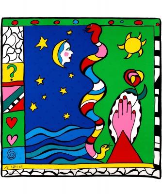 Niki De Saint Phalle Silk Scarf - Niki de Saint Phalle