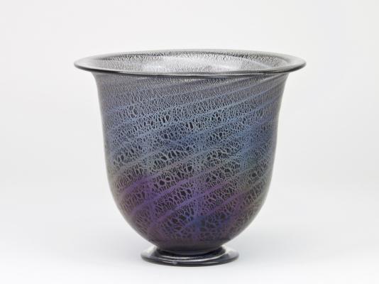 A.D. Copier, Unique vase with antimony crackle, Glass Factory Leerdam, ca. 1927 - Andries Dirk (A.D.) Copier