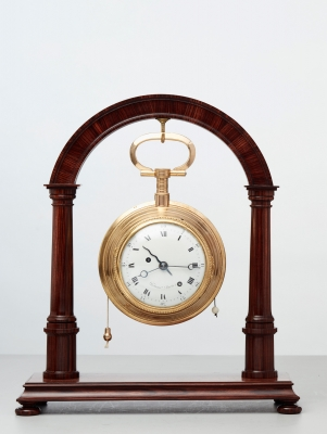 A French gilt bronze coach watch by Festeau a Paris, circa 1790