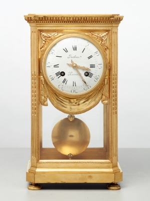 A fine French bronze 'four glass' table regulator by Robin, circa 1880