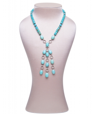 Siman Tu Turquoise Tassel Necklace