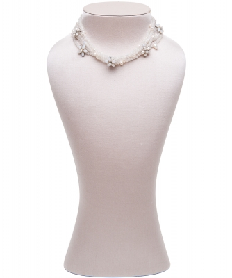 Siman Tu Five Strand Moonstone Freshwater Pearl Necklace