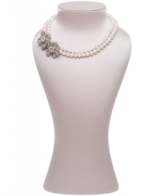 Siman Tu Two Strand Freshwater Pearl Necklace