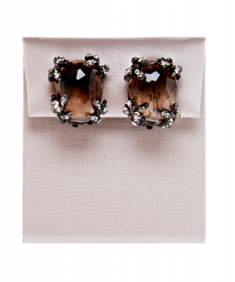 Siman Tu Smoky Quartz Cushion Cut Earrings