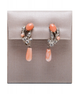 Siman Tu Coral Drop Earrings