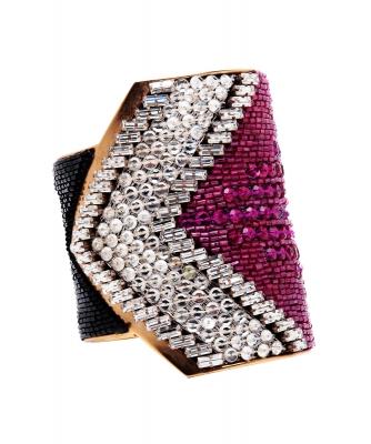 Vintage Lesage Embroidered Cuff Bracelet