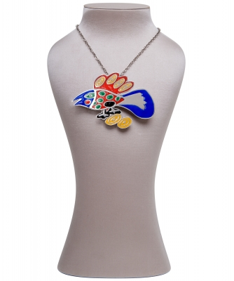 Corneille Enamel Bird Brooch/Necklace - Corneille