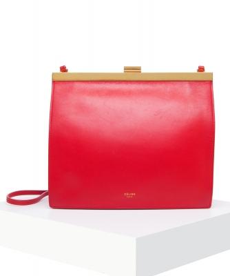 Céline Scarlet Mini Clasp Crossbody Bag