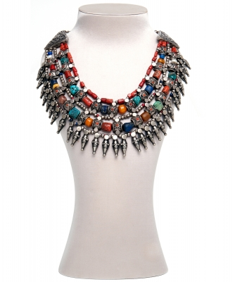 Indian Agate Necklace - Designer Unknown