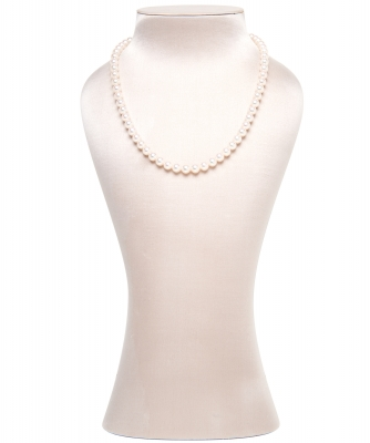 Mikimoto 18inch Akoya Cultured Pearl Strand Necklace – 18K White Gold Clasp - Mikimoto