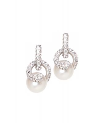 Mikimoto Twist White South Sea Cultured Pearl Earrings – 18K White Gold - Mikimoto