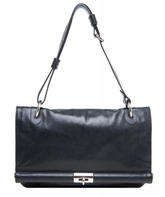 Dries Van Noten Black Leather Shoulder Bag