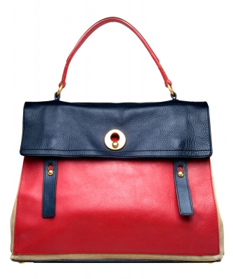 Yves Saint Laurent Tricolor Muse Two Satchel - Large - Yves Saint Laurent
