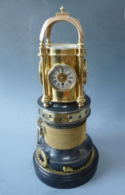 Fascinating and rare nautical theme clock, automaton from the Industrial Series, Guilmet, France c.1880-1890