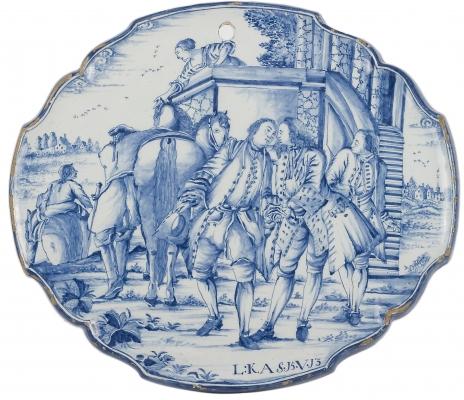 A Delft Blue Plaque