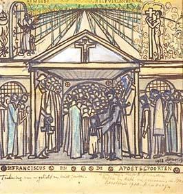 St. Franciscus en de apostelpoorten - Jan Toorop