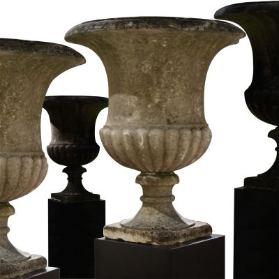 A Set of Four Campana Vases