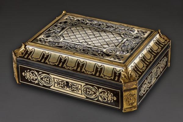 French Louis XIV Document Case with Boulle-technique