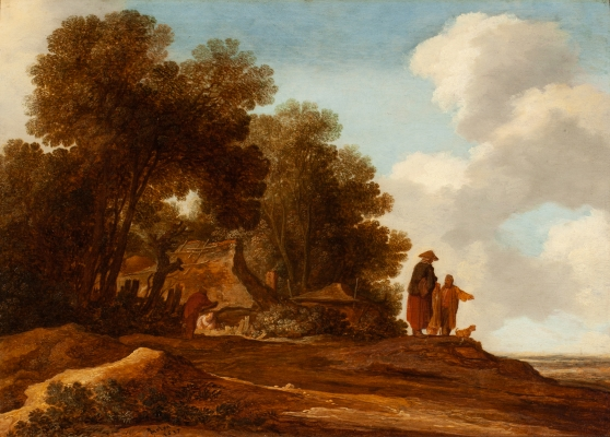 Forest landscape with figures