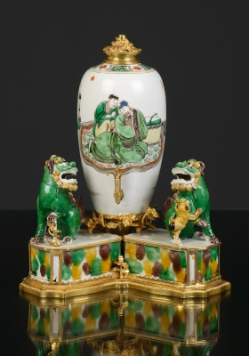 French Louis XV Mounted Porcelain 'Fontaine à Parfum'
