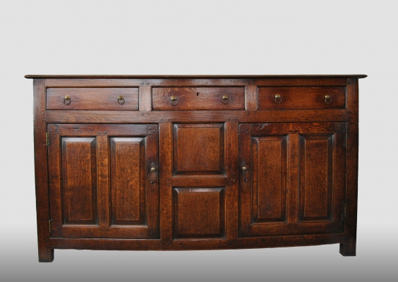 English oak dresser, about 1750 - 1775.