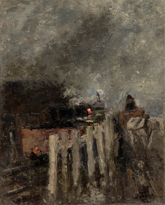 Train yard - Jan Toorop