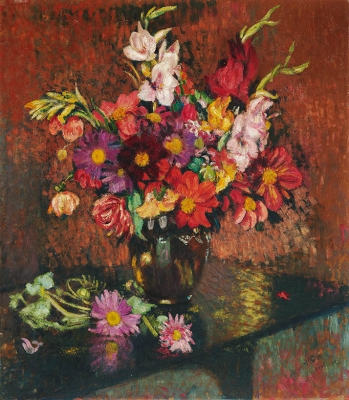 Flowers at the table - Georges Lemmen