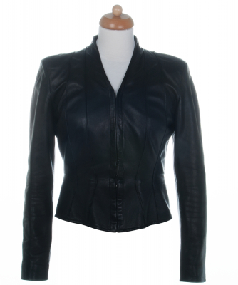 Chanel Black Paneled Leather Jacket