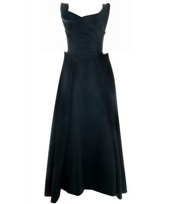 Vivienne Westwood Gold Label Special Black Silk Evening Gown