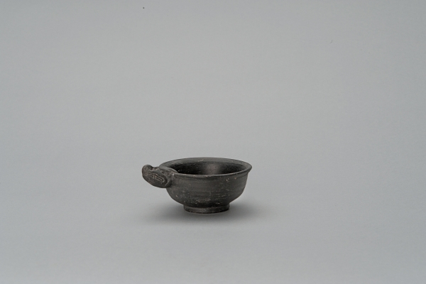 Yuan pottery small bowl with dragon handle