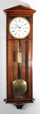 An attractive Austrian rosewood inlaid 'Dachluhr' with grande sonnerie by L. Müller, circa 1840