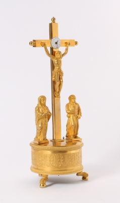 A rare South German ormolu crucifix clock, by Joseph Patzelt, circa 1820