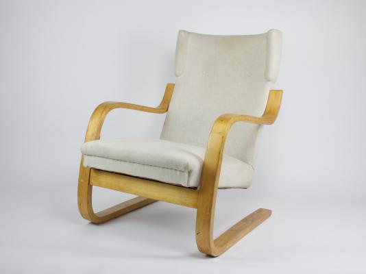 Alvar Aalto, high-backed cantilever armchair, early edition, model 401, designed 1933, executed by Artek Company - Alvar Aalto