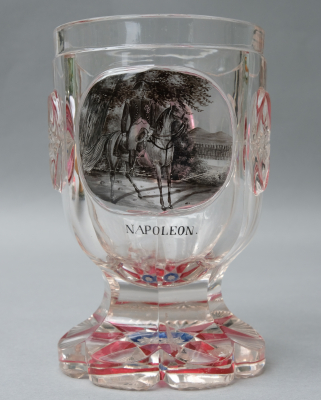 Bohemian glass 'Napoleon on horseback'