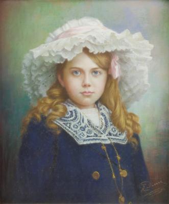 Arthur Joseph Pierre, Portrait of girl with a hat, 1912 - Arthur Joseph Pierre