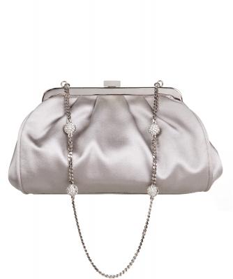 Dolce & Gabbana Satin Crystal Chain Evening Bag