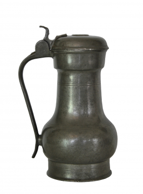 "Pewter dutch ""Rembrandtkan"" Flagon."