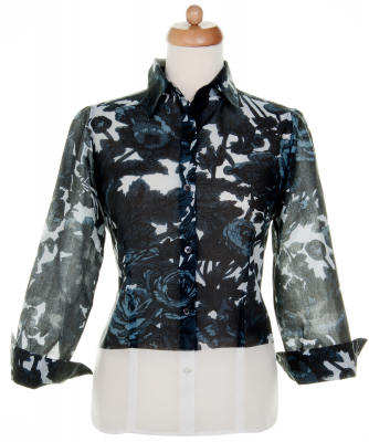 SS 2008 Dries Van Noten Abstract Print Blouse - Dries van Noten