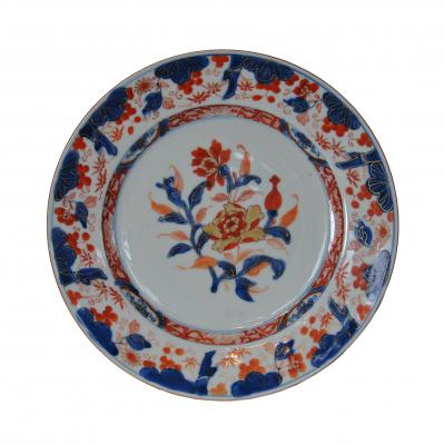 Six Imari plates, large size, all intact, no restorations.
