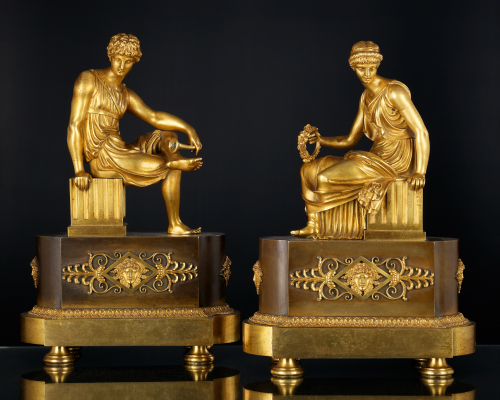 Pair of French Empire Sculptures