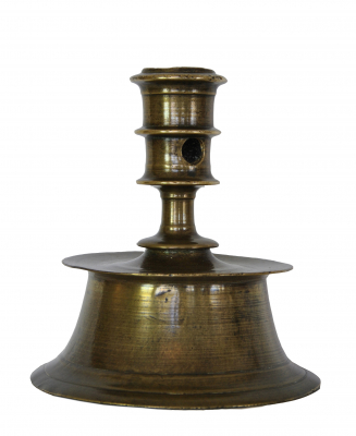 French candlestick with a beautiful old patina, about 1600.