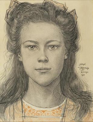 Portret van Jo Vogel, 1910 - Jan Toorop