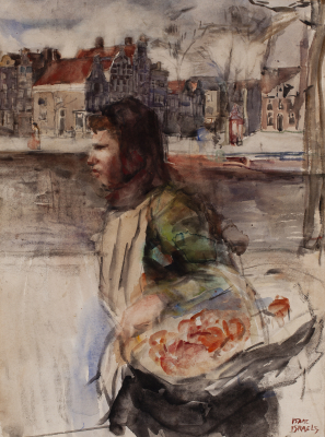 View of the Noordermarkt - Isaac Israëls
