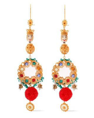 SS 2013 Dolce & Gabbana Sicilia Chandelier Earrings - Dolce & Gabbana