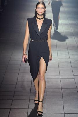 SS 2012 Lanvin Runway Black Silk Sleeveless Dress - Lanvin