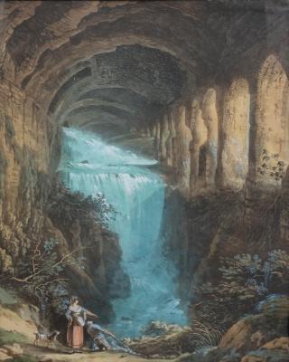 Waterfalls in the Villa of Maecenas at Tivoli